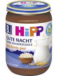 Hipp Gute Nacht Milchreis pur