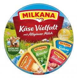Milkana Käse Schmelzkäse-Ecken Käse Vielfalt 8 leckere Ecken