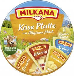Milkana Schmelzkäse-Ecken Käse Platte 8 leckere Ecken