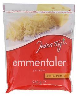Jeden Tag Emmentaler gerieben (250 g) - 4306180084455