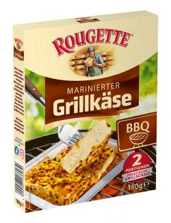 Rougette marinierter Grillkäse BBQ