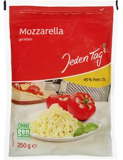 Jeden Tag Mozzarella gerieben 45% Fett i.Tr.