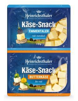 Heinrichsthaler Käse-Snack Emmentaler + Butterkäse