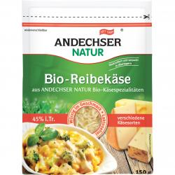 Andechser Natur Bio-Reibekäse 45% Fett i.Tr.