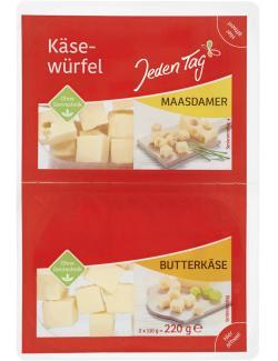Jeden Tag Käsewürfel Maasdamer + Butterkäse