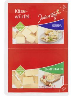 Jeden Tag Käsewürfel Gouda + Emmentaler