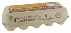 Frische Eier aus Bodenhaltung Größe M braun/weiß (10 St.) - 4004953002148