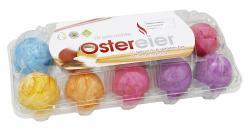 Eifrisch Deutsche Ostereier gekocht & gefärbt mit Salz