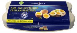 Küstengold Eier aus Freilandhaltung mit Bruderhahn-Aufzucht Güteklasse A