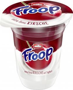 Müller Froop Frucht auf Joghurt Kirsche