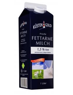 Küstengold Frische Fettarme Milch 1,5% (1 l) - 4000436109502