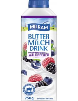 Milram Buttermilch Drink Waldbeeren (750 g) - 4036300068262