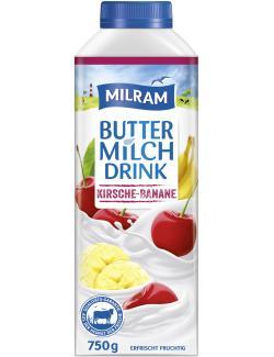 Milram Buttermilch Drink Kirsche-Banane (750 g) - 4036300095251