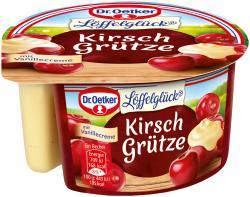 Dr. Oetker Löffelglück Kirsch Grütze mit Vanillecreme
