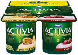 Danone Activia Pfirsich-Maracuja und Kirsche