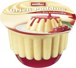 Müller Grieß Pudding mit Kirschsoße