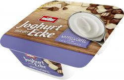 Müller Joghurt mit der Ecke Knusper Waffelwürfel & Joghurt Sahne-Crème