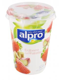 Alpro Soja-Joghurt Erdbeere mit Rhabarber (500 g) - 5411188114536