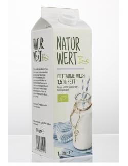 NaturWert Bio Milch fettarm 1,5% (1 l) - 22144928