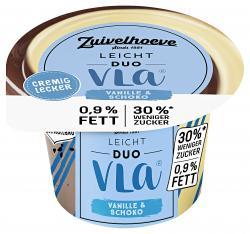 Zuivelhoeve Duo Vla Leichter Genuss Vanille Schokolade (200 g) - 8711399014883