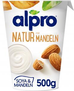 Alpro Soja-Joghurt Natur mit Mandeln
