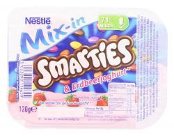 Nestlé Mix-in Smarties & Erdbeerjoghurt (120 g) - 3023290114629