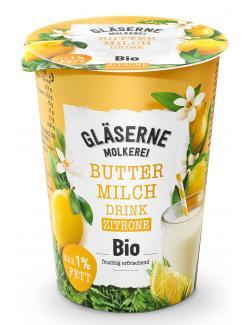 Gläserne Molkerei Bio-Buttermilchdrink Zitrone