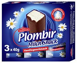 Plombir Milch Snack Vanillegeschmack