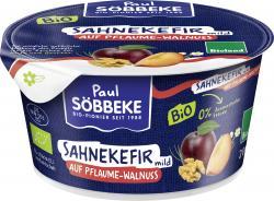 Söbbeke Bio Sahnekefir mild auf Pflaume-Walnuss