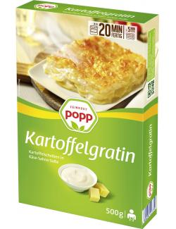 Popp Kartoffelgratin Kartoffelscheiben in Käse-Sahne-Soße (500 g) - 4006034227778