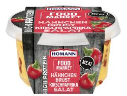 Homann Food Market High Protein Hähnchenbrust Kirschpaprika Salat