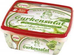 Popp Gurkensalat in Joghurtdressing