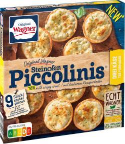 Original Wagner Pizza Steinofen Piccolinis® Drei-Käse, Vegetarisch, Tiefgefroren