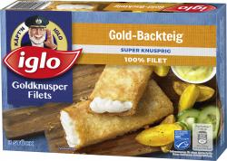 Iglo Goldknusper-Filets Gold-Backteig