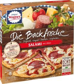Original Wagner Die Backfrische Salami Pizza mit und feinen Kräutern