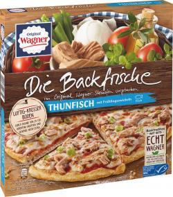 Original Wagner Die Backfrische Thunfisch Pizza mit Frühlingszwiebeln, MSC-zertifiziert,  (Tiefkühlpizza)