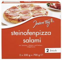 Jeden Tag Steinofenpizza Salami (2 x 350 g) - 4306188819837