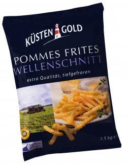 Küstengold Pommes Frites Wellenschnitt (2,50 kg) - 4250426206050