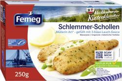 Femeg Schlemmer-Schollen mit 3-Käse-Lauch-Sauce