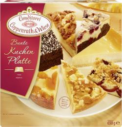 Coppenrath & Wiese Feinste Kuchen Bunte Kuchen-Platte (650 g) - 4008577004076