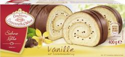 Coppenrath & Wiese Sahne-Rolle Vanille mit Schokoladenüberzug (400 g) - 4008577000252