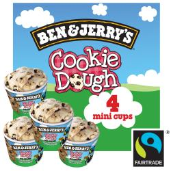 Ben & Jerry's Cookie Dough (4 x 100 ml) - 8712100724220