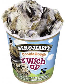 Ben & Jerry's Cookie Dough s´wich up