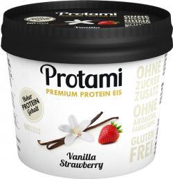 Protami Premium Protein Eis Vanilla Strawberry (180 ml) - 4260443950140