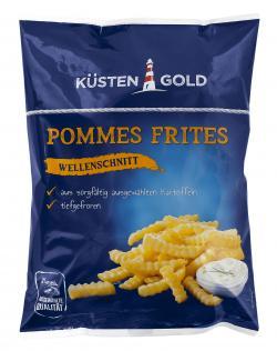 Küstengold Pommes Frites Wellenschnitt