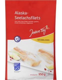 Jeden Tag Alaska-Seelachsfilets natur