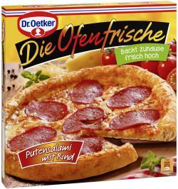 Dr. Oetker Die Ofenfrische Pizza Putensalami mit Rind