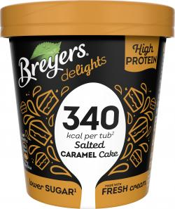 Breyers delights High Protein Eiscreme Salted Caramel Cake
