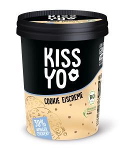 Kissyo Bio Eiscreme Cookie 30% weniger Zucker