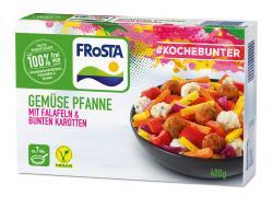 Frosta #Kochebunter Gemüse Pfanne mit Falafeln & bunten Karotten